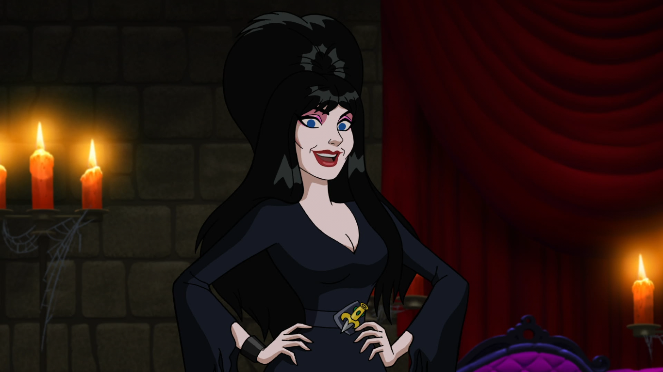 Elvira Mistress of the Dark teams up with Scooby Doo for Halloween movie