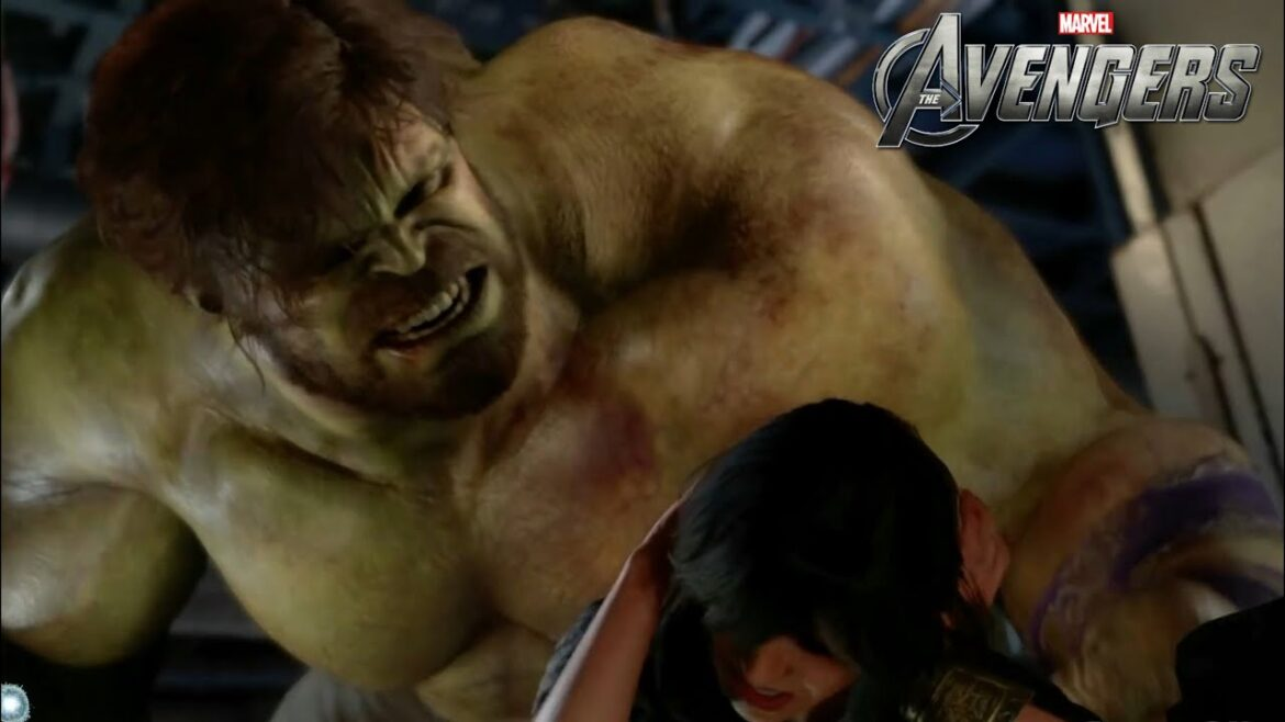 Video Game Footage- Marvel's Avengers- Hulk Chases Ms Marvel