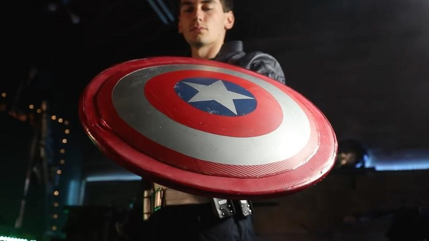 Jake Laser Creates Cap Shield the Bounces Correctly
