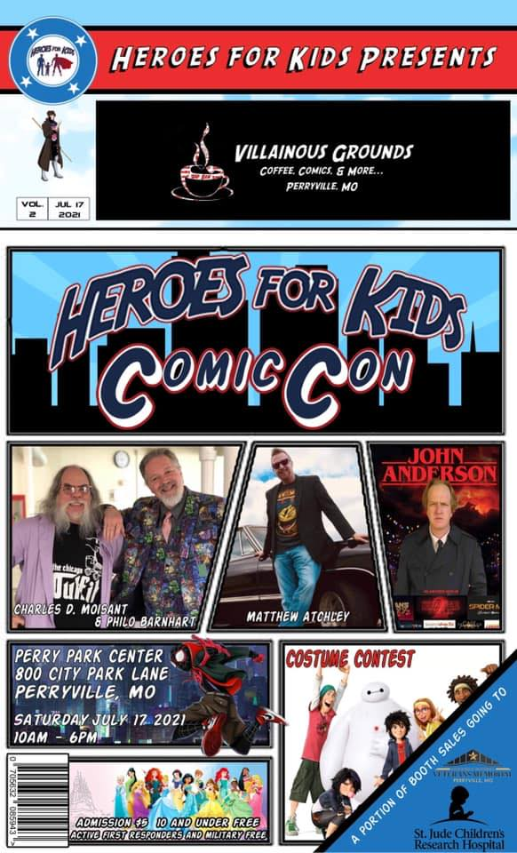 Heroes For Kids Comic Con is Today