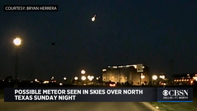 Meteor Lights Up Northern Texas Sky
